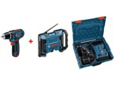 Дрель Bosch GSR 10,8-2-LI + GML 10,8 V-LI